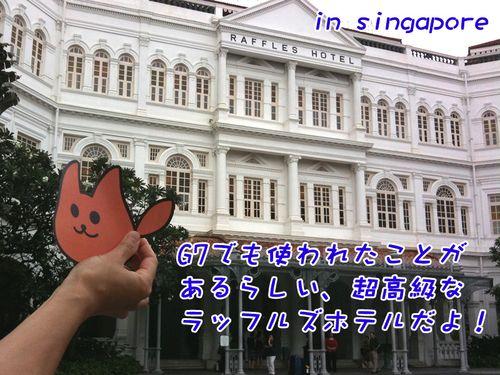 トフトフトッフフフフ(シンガポールの超高級ホテルに泊まったよ!と言っている)